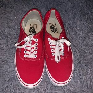 authentic red vans!!